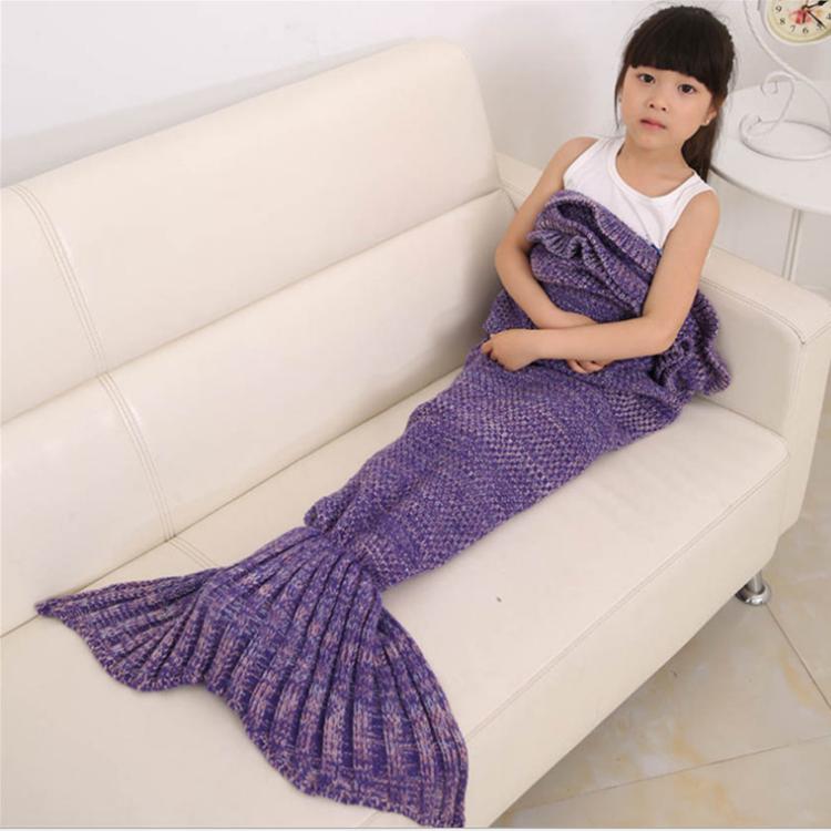 Wholesale stuffed child soft mermaid tail blanket