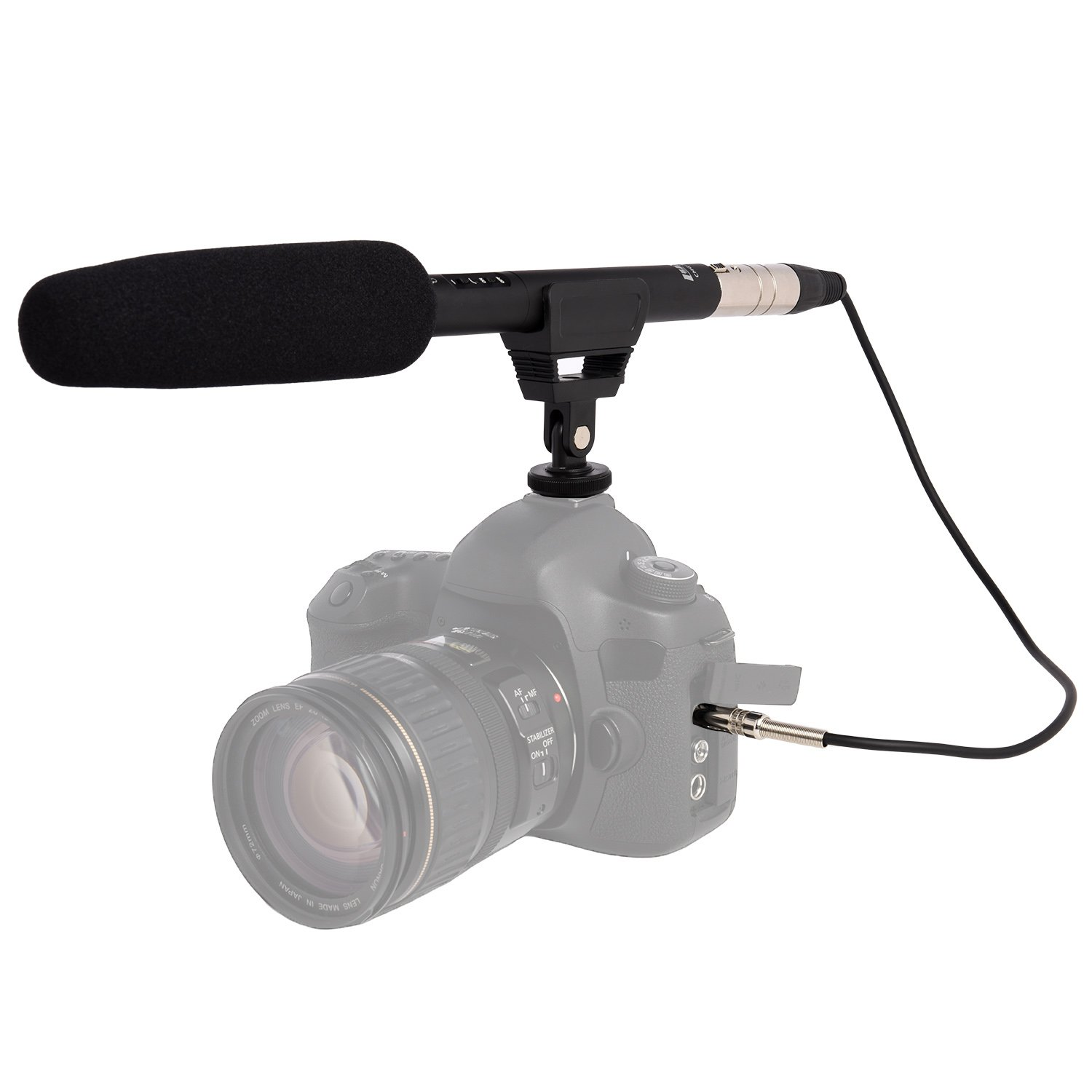 Cheap Microphone Phantom Find Deals On Line At Power Pc Microphones From P48 Or 48 Volts Get Quotations Lyxpro Cmg 50 Condenser Shotgun Battery With Impedance Matching Transformer Cable