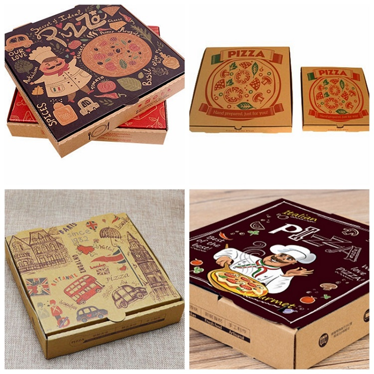 Motorcycle pizza delivery box corrugated paper