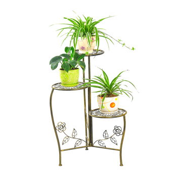 Handicraft Outdoor Garden Metal Planter Holder Vintage Patio Porch