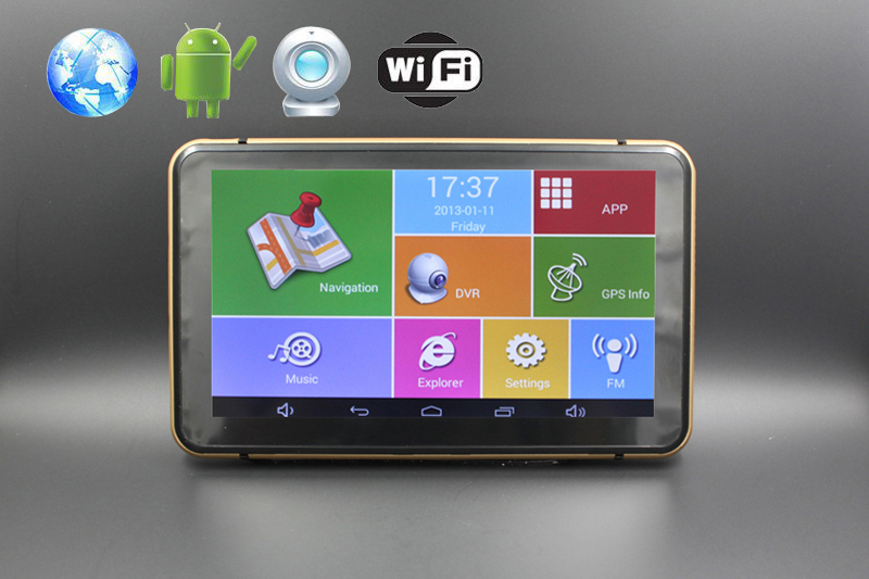 Android GPS Navigation 7inch touch screen wifi/bluetooth /DVR/FMT 8G flash with map