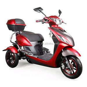 None fall Adult 60v 800w Electrical Trike 3 wheel SCOOTER Electric tricycle with tilting system