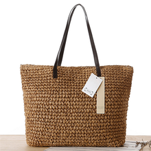 Women shoulder bag tote beach fashion Casual bucket bag straw tote bag summer