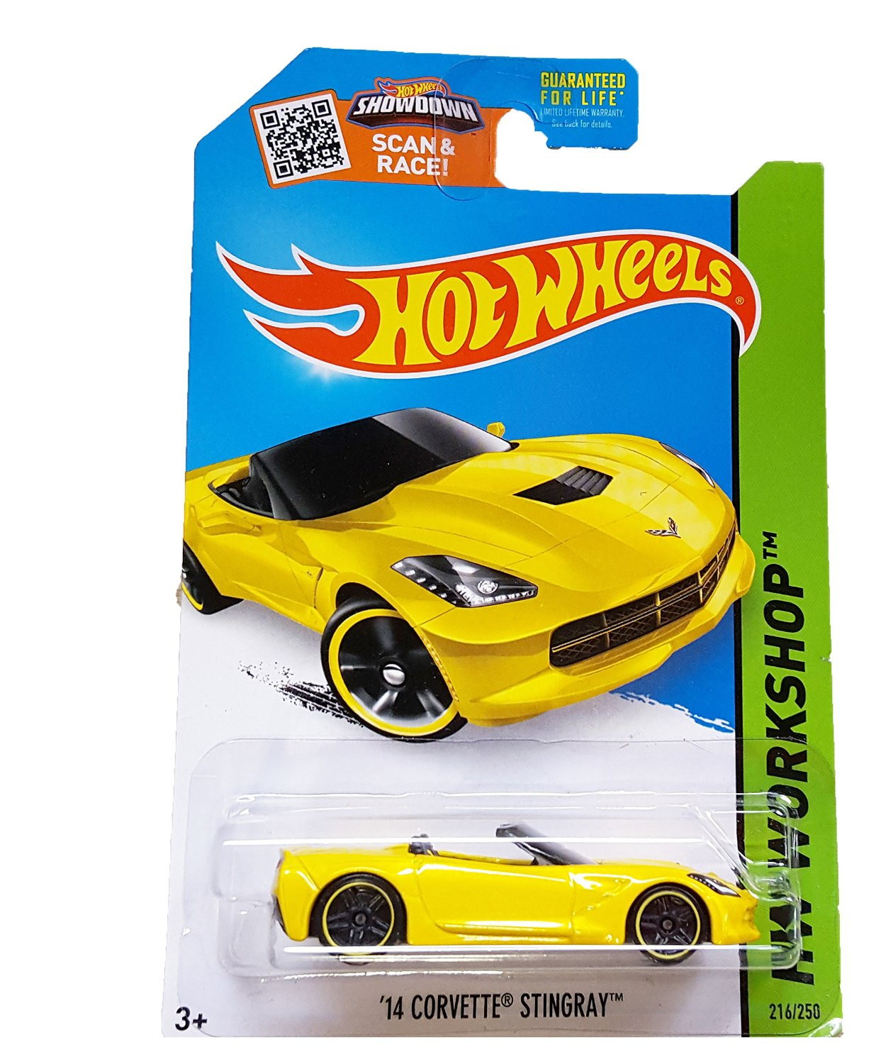 Hot Wheels, 2015 HW Workshop, '14 Corvette Stingray Convertible [Yellow] 216/250