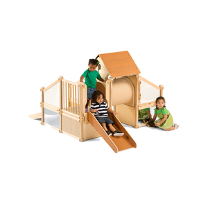 China low price used children wood outdoor indoor playground equipment for sale