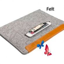 Luxury padded carry handle tablet felt material abs laptop case