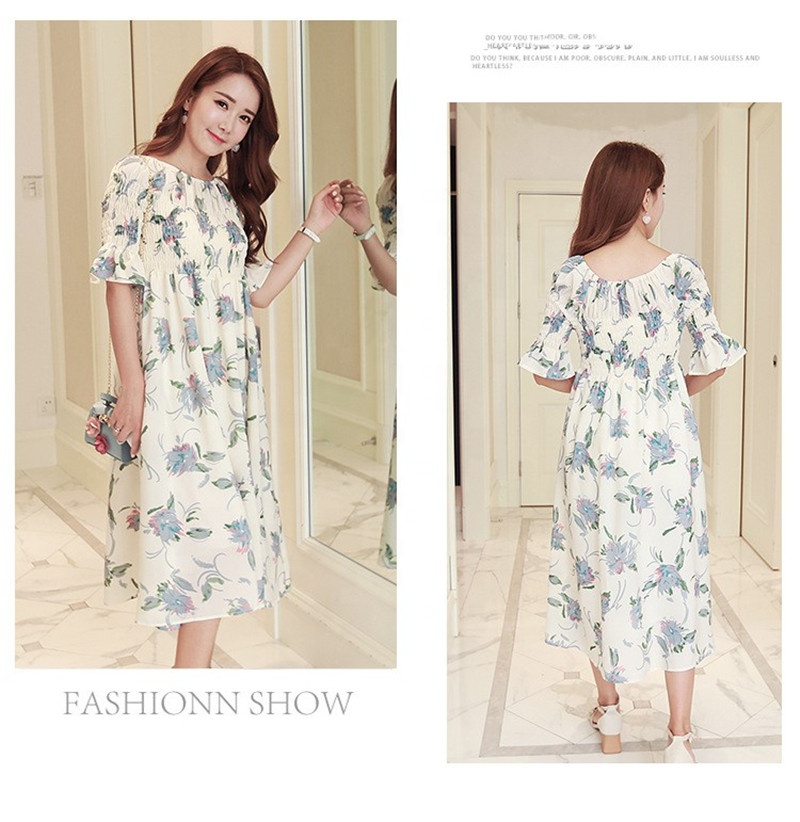 Mid sleeve 2019 new summer chiffon <strong>maternity</strong> <strong>dress</strong>