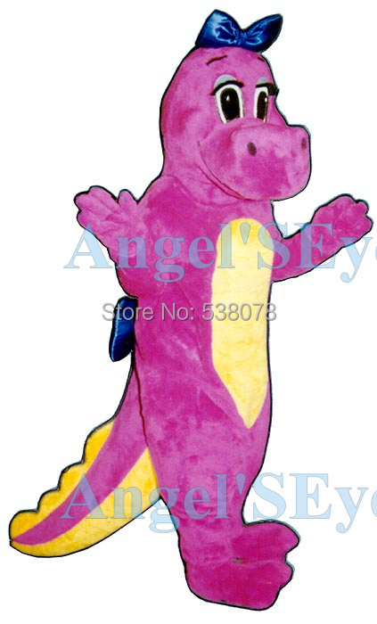 Dinah Pink Dinosaur Mascot Costume Adult Cartoon Character Anime Cosplay Costumes Mascotte Fancy Dress Kits for carnival