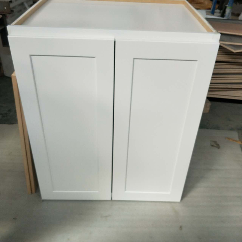 Fresh From Production Line White Shaker Kitchen Cabinet With Solid Wood Drawer Box