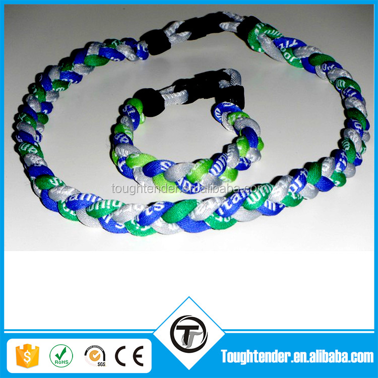 Top Quality Multi Colors Baseball Necklace Titanium Bracelet With Your logo Free