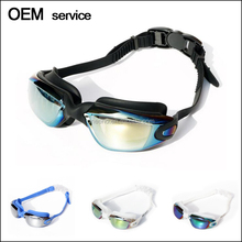 2017 Newest Coated lens anti-fog funny swimming goggles with adjustable strap