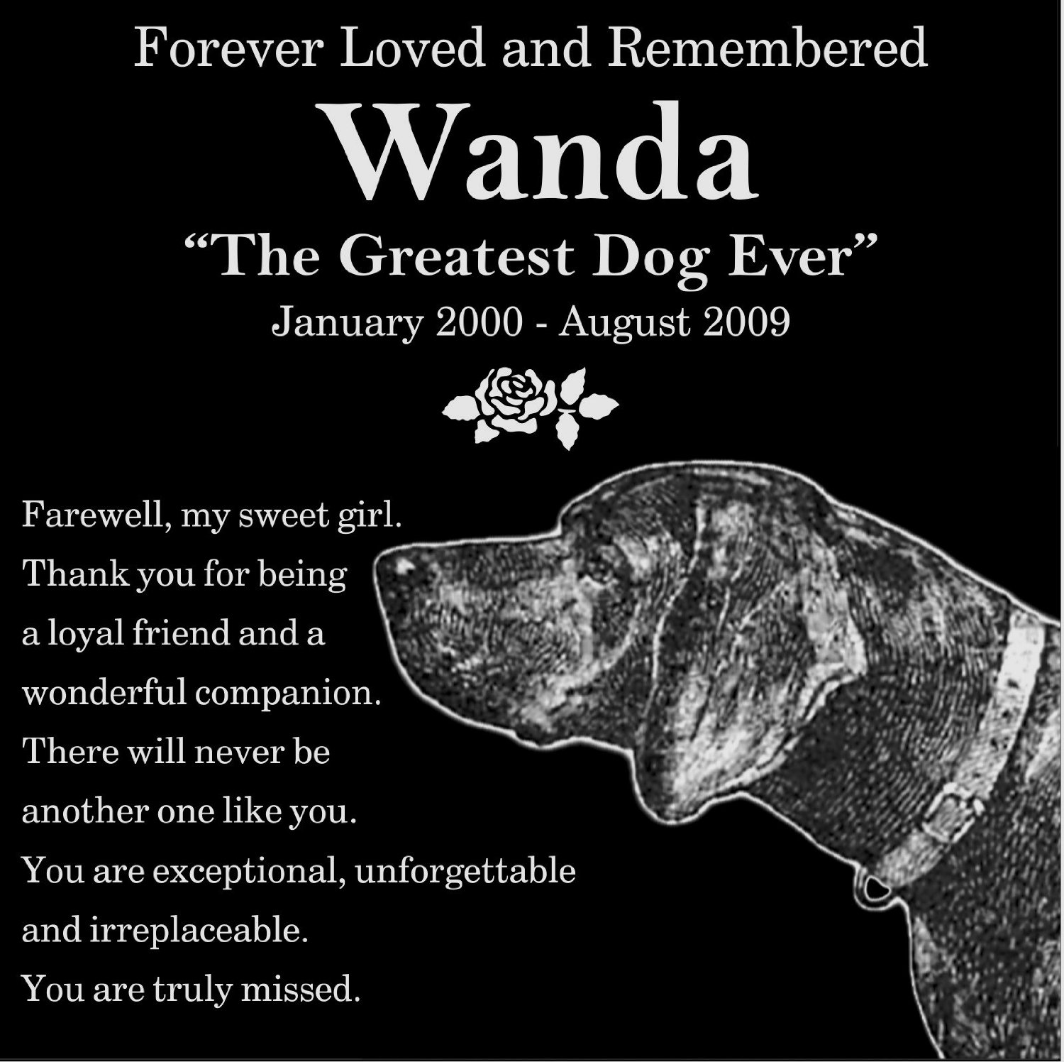buy personalized guardian angel pet memorial 12 x12 engraved black