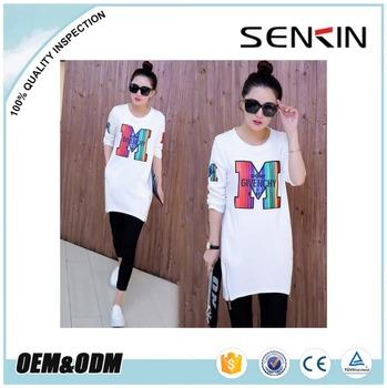latest model women long sleeve t shirts wholesale side zipper tees extended  t shirt 456386c6cc