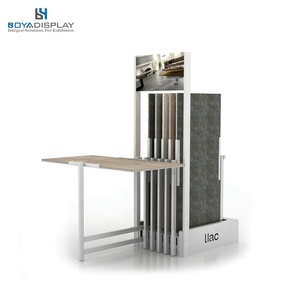 stone display solution turning display for ceramic tile panel