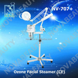 Ozone therapy electric facial steamer / magnifying lamp led NV-707+