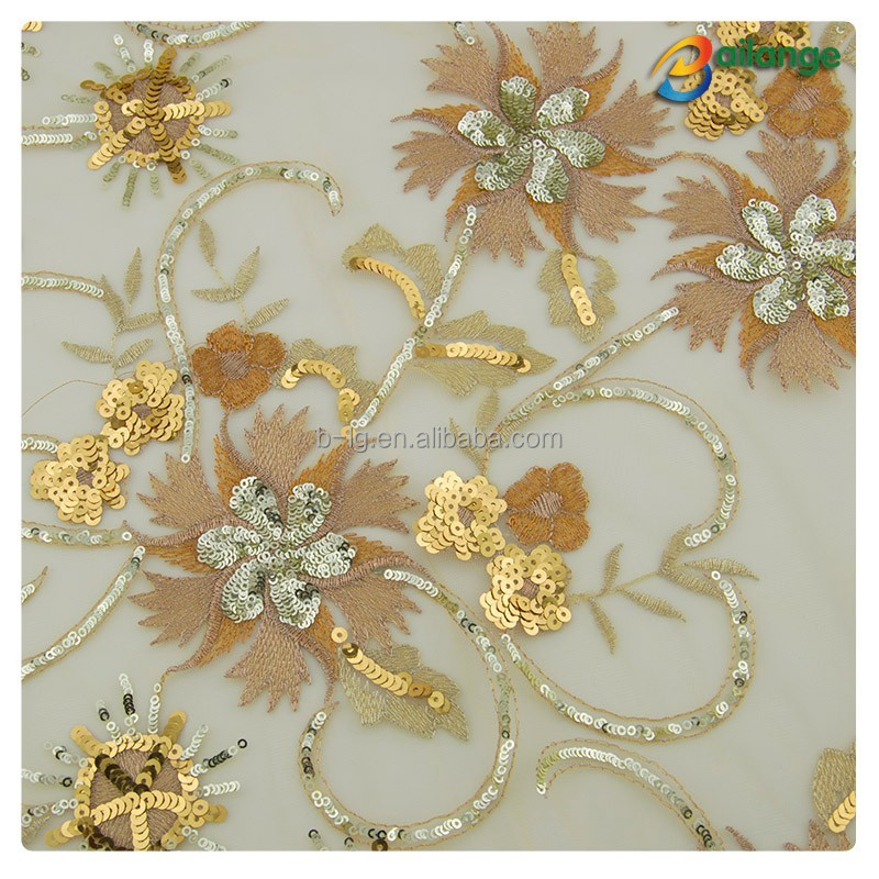 Wholesale custom hot sale factory sequins fabric for dress