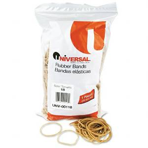 Universal : Rubber Bands, Size 18, 1/8 x 3, 1600 per 1lb Box -:- Sold as 2 Packs of - 1600 - / - Total of 3200 Each