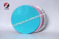 Eco-friendly party supply disposable custom plastic/paper cake boards