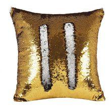 Двусторонняя Подушка с блестками, наволочка с блестками для русалки, Волшебная расцветка, домашний декор, диванные подушки, крышка 40х40см(Китай)