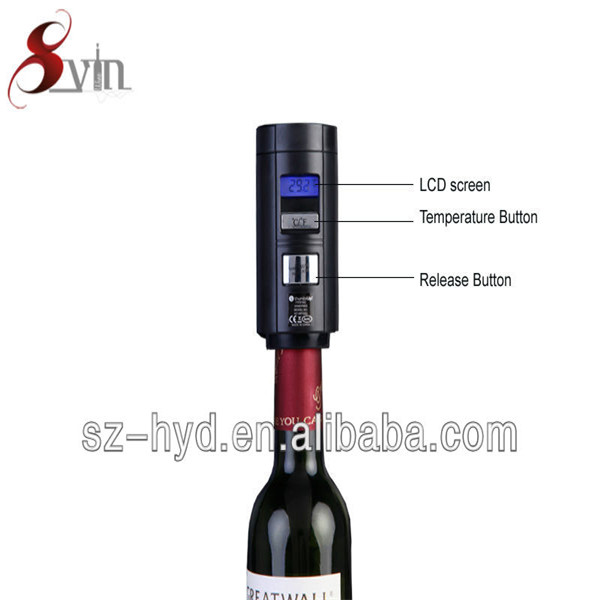 New arrival LCD Show Bar electric vacuum wine drop stopper