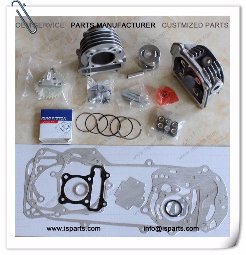 Hot sale 100cc GY6 50mm big bore engine cylinder rebuild kit