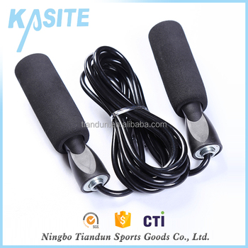 Logo customized bearing black pvc jump rope professional