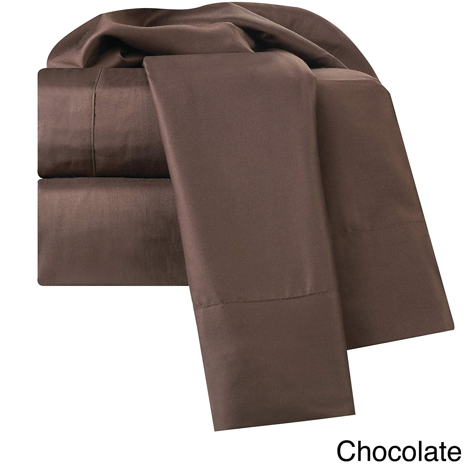 Clara Clark Rayon from Bamboo/Cotton Bed Sheet Set Chocolate King