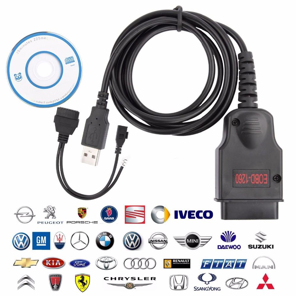 EOBD OBDII OBD 2 Galletto 1260 ECU Car Diagnostics Cable Code Remap