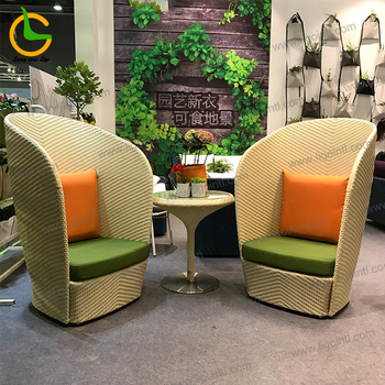 Waterproof project custom high back ratan bistro bamboo hotel garden chair
