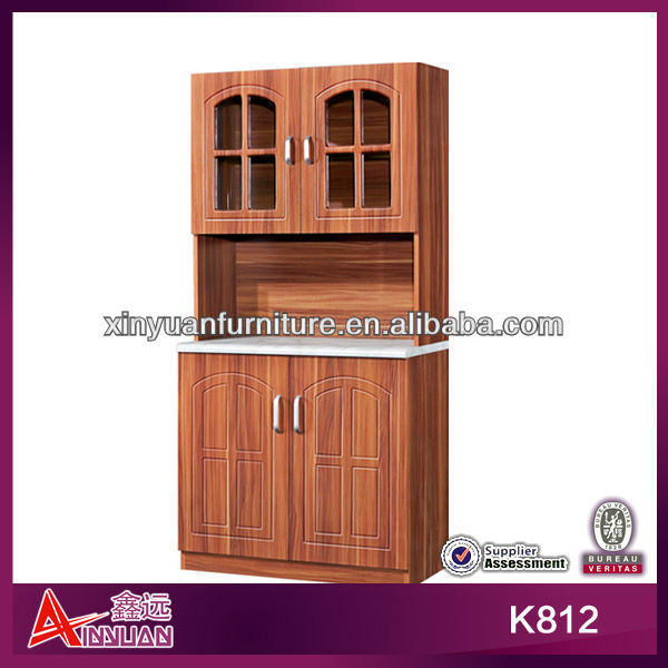 Best price classic family frosted glass kitchen cabinet