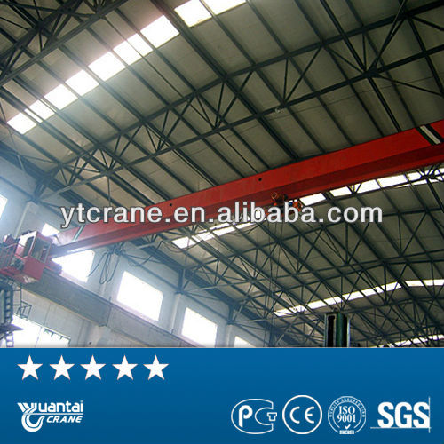 single beam electric hoist radio overhead crane for steel mill
