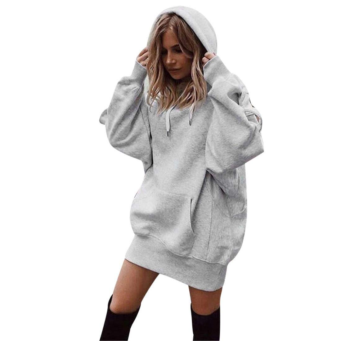 Get Quotations · Women Long Baggy Hoodies 7ac25a9c5