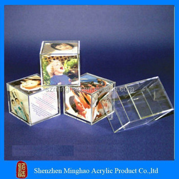 Wholesale Acrylic Plastic Cube Photo Frame For Photo Booth Buy
