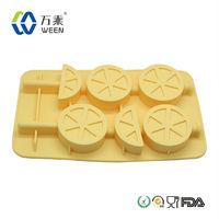 OEM Welcome BPA Free lemon silicone ice cube tray