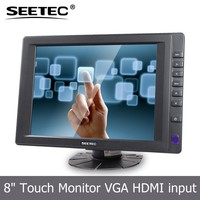 8 inch touch screen vga hdmi input tft lcd display adjustable monitor stand