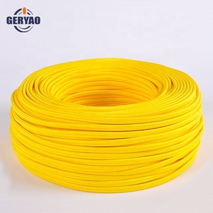 Hot sale yellow fabric cable USA, braided copper wire, textile cable spool