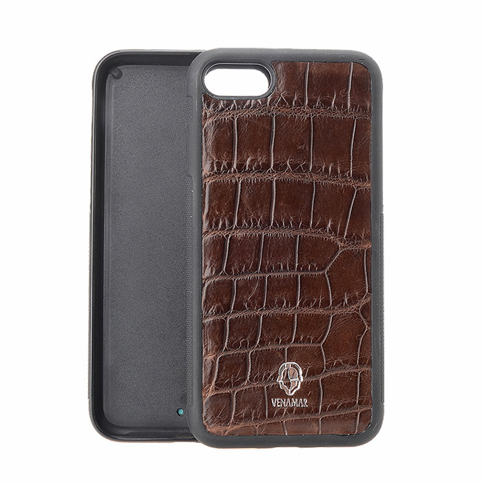 Luxury Embossed Genuine Alligator Crocodile Leather Phone Case Manufacturer for Phone 6/6S/7