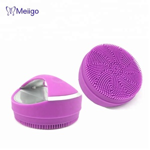 Electric sonic face silicone facial cleanser brush cleansing beauty device