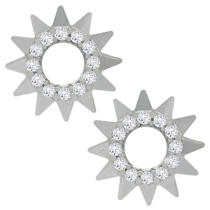 kids Bulk Fashion 925 Sterling Silver tiny Sunflower Stud Earrings