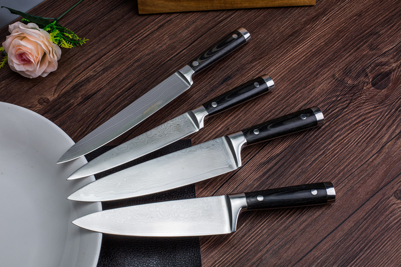 Japanese 67 Layer VG-10 Forged Damascus Steel Chef knife Set