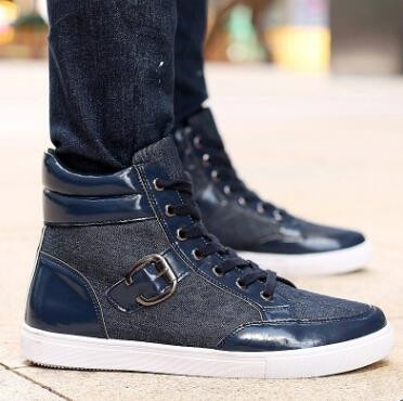 zm21119a men casual lace-up canvas shoes short boots