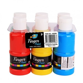 120ML non-toxic washable paint used for children 6 color one set