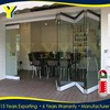 Aluminium double glazed windows and doors comply with building code of Australia & New Zealand | Frameless folding door