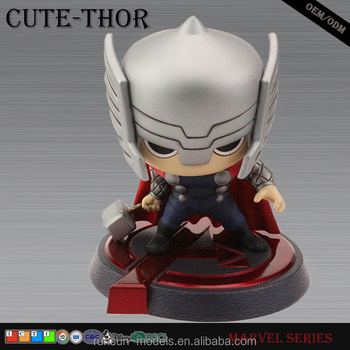 high quality cute miniature resin craft thor Marvel action figure for collection