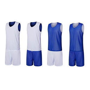 56a7a470146f New Design Dry Fit Mesh 100% Polyester Custom Logo Reversible Basketball  Jersey Uniform