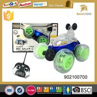 Battery operated bumper rc stunt car
