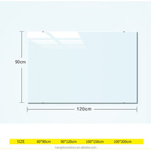 School notice tempered glass writing white board with accessories