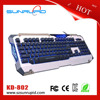 Nighthawk Backlight Multimedia Ergonomic Gaming Keyboard Blue/Red/Purple