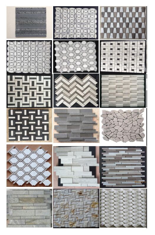 hexagon marble mosaic natural stone mosaic tile price