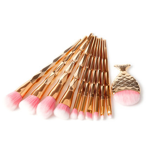 10pcs diamond and fan foundation air brush make up brushes cosmetics